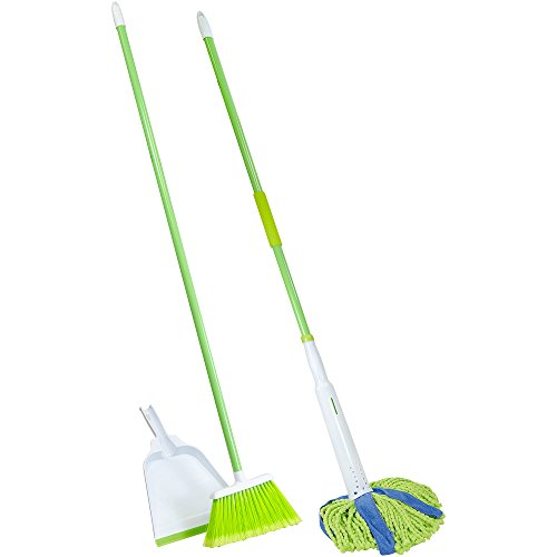 Lysol Broom with Dustpan & Microfiber Cone Mop Value Pack, 3 pc.With Its 10