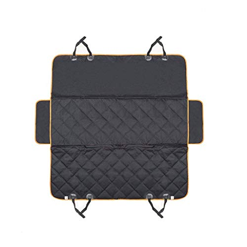 (Dog Car Seat Cover Mat Waterproof Hammock Protector Waterproof Washable Trunk Liner Mat for SUVs Cars Trucks (Color : Black))