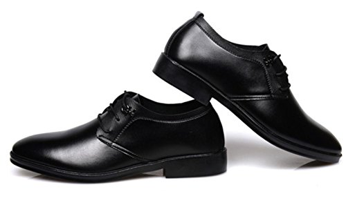 CSDM Grande promozione Uomini Casual Scarpe Uomo Cuoio Pointed Scarpe da sposa Scarpe da sposa in gomma Bottom , black , 43