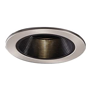 Halo 1493SN 4 Inch Satin Nickel Trim Black Coilex Recessed Light Fixture T
