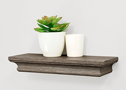 Kiera Grace Boston Wall Shelf, Driftwood Grey, 12-Inch