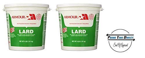 Armour Lard Pail, 4 lb (Pack of 2) in a Prime Time Direct Sealed Box by Prime Time Direct