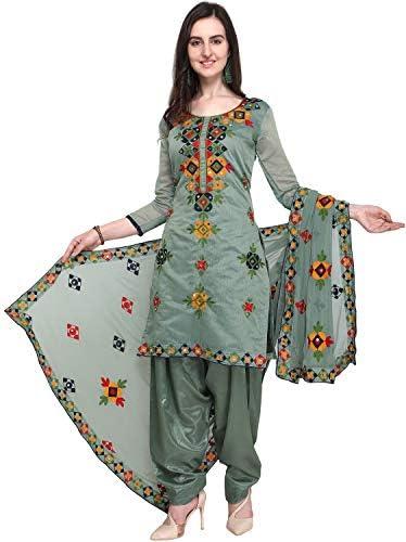 EthnicJunction Women Cotton Un-Stitched Dress Material