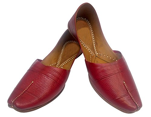 Indian Leather Ethnic Shoes Step Mojari Jooti n Jaipuri Mens Shoe Style Khussa Shoes qP0Pt