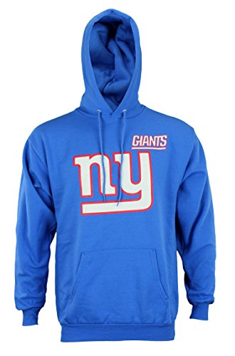Hood Majestic Athletic (Majestic Athletic NFL Mens Intimidating Pullover Fleece Hoodie, New York Giants)