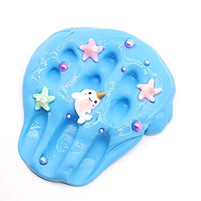 Wenjuan Dolphin Starfish Pearl Cloud Slime Putty Fluffy Super Soft and Non-Sticky Stress Relief Toy Scented Sludge Toy for 4 Years Old + Kids, Safe and Non Toxic (60ml): Toys & Games