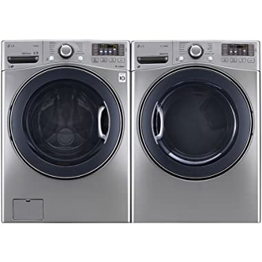 POWER PAIR SPECIAL-LG TURBO SERIES ULTRA CAPACITY LAUNDRY SYSTEM WITH STEAM TECHNOLOGY, AND STAINLESS DRUMS (WM3570HVA_DLEX3570V) *GRAPHITE STEEL COLOR*