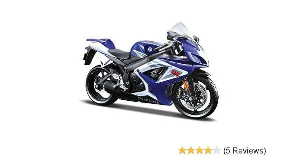 Suzuki Gsx R-750 2006 Blue 1:12 Diecast Motorcycle Model by ma