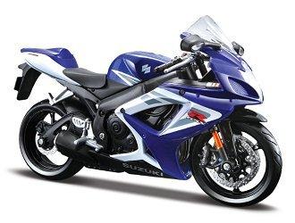 Amazon.com: Suzuki Gsx R-750 2006 Blue 1:12 Diecast Motorcycle Model ...