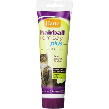 Paste Hairball - Hartz Hairball Remedy Plus Paste for Cats 2.50 oz(Pack of 3)