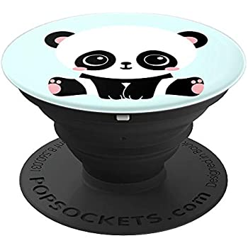 Amazon.com: Cute Panda Cub Turquoise Pop Socket Love