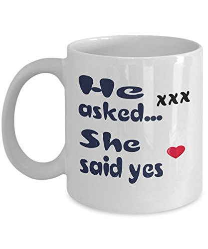 He asked, She said yes Mug - 11 Oz White Collor