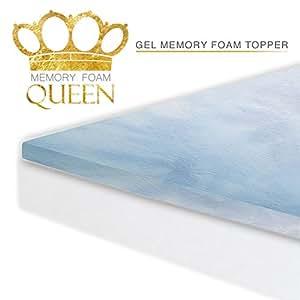Amazon Memory Foam Queen Gel Infused Queen 2 Inch