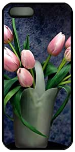 Pink Tulip Theme For SamSung Note 2 Phone Case Cover PC Material Black
