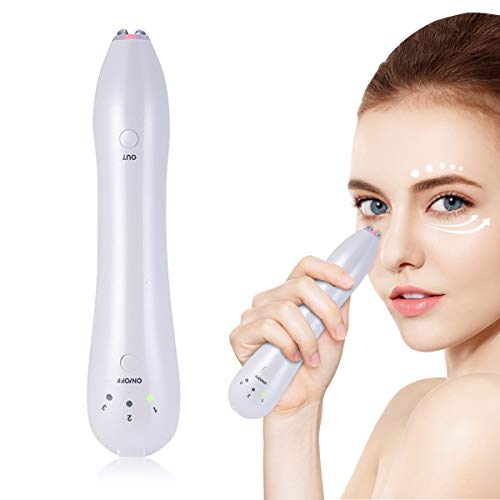 (Heated Sonic Eye massager Eye Machine Radio frequency Eye Wrinkle Remover for Reducing Eyes Puffiness and Dark Circle Anti-aging Device MEILYLA)