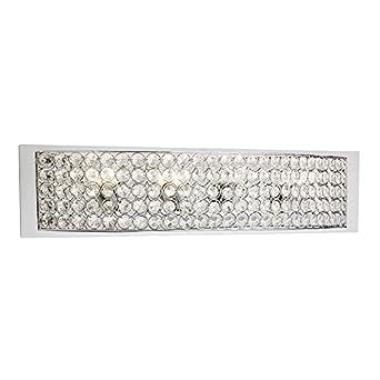 Kichler Lighting 4 Light Krystal Ice Chrome Crystal Bathroom Vanity Light