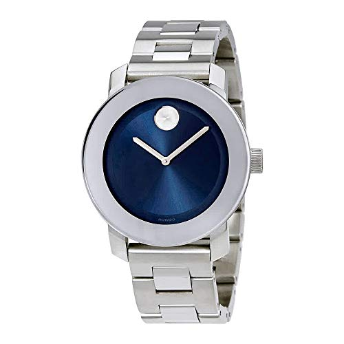 - Movado Bold 3600396 Blue Dial Stainless Steel Case & Strap Unisex Watch
