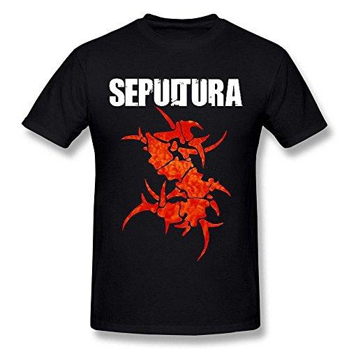 Men's Sepultura Thrash Metal Logo Black T Shirt by Maven -