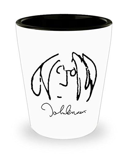 John Lennon (Self Portrait) Mug (Shot Glass) 1.5oz John Lennon Mug - John Lennon Coffee Mug - John Lennon Gifts - Beatles Mug - Beatles Coffee Mug - B