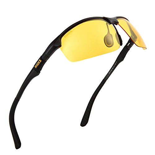 Manneco Men's HD Polarized Anti-Glare Safety Glasses for Night Driving and outdoor - Special Glasses