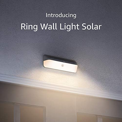 Introducing Ring Smart Lighting – Wall Light Solar, Black (Ring Bridge required)