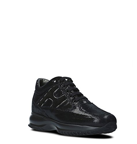 Hxw00n0z160h1sb999 Sneakers Donna Nera Pelle Da Hogan In rpdPrwR