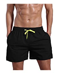 QRANSS Surf Men's Quick Dry Swim Trunks Bathing Suit Beach Shorts