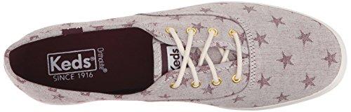 Keds-dames Kampioen Ster Chambray Sneaker Mahonie