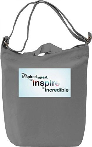 To Inspire Borsa Giornaliera Canvas Canvas Day Bag| 100% Premium Cotton Canvas| DTG Printing|