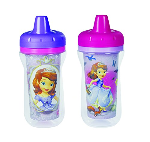 The First Years Disney Junior Sofia The First Insulated Sippy Cup, 2 Count (Color and design may vary)