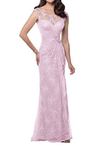 Promkleider mia Abendkleider Brautmutterkleider U La Damen Ausschnitt Schmaler Schnitt Rosa Spitze Braut pvxwYqqd6