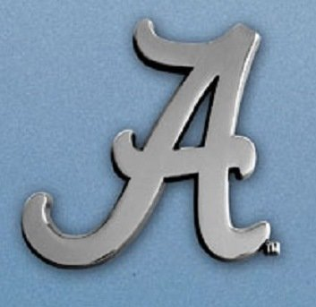 Alabama Crimson Tide Heavy Metal NCAA Auto Emblem - Fan Mats (Alabama Metal)