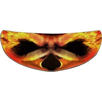 SkullSkins A Skin On Fire SK Motorcycle Shield Skin (Yellow/Orange)