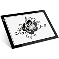 LED Light Box Light Pad : Seenda A4 Ultra-thin LED Artcraft Tracing Light Table Drawing Pad for Artists, Drawing, Sketching, Weed Craft Vinyl, Animation, Calligraphy