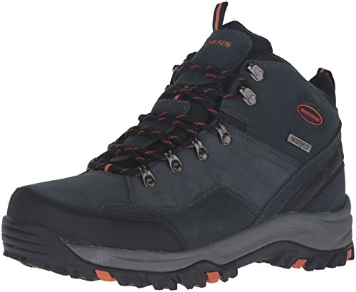 Skechers Men's Relment Pelmo Chukka Boot,Gray,11 M US (Women Sketcher Boots Size 11)