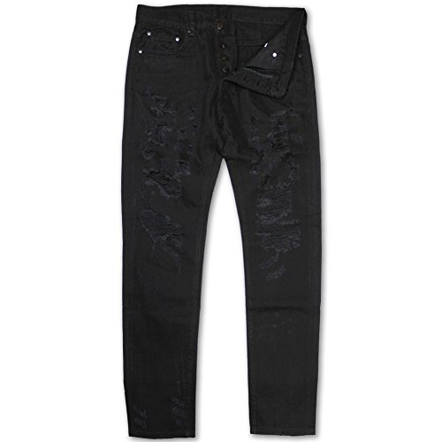 Dope Couture Franklin Tapered Denim Jeans Black by Dope Couture