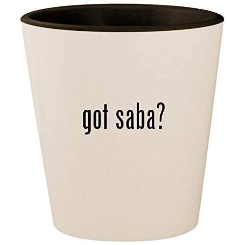 got saba? - White Outer & Black Inner Ceramic 1.5oz for sale  Delivered anywhere in USA