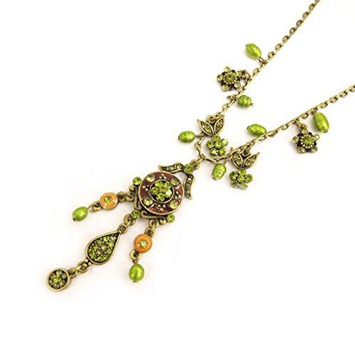 [Necklace 'Mulan' green / amber.] (Mulan Costume Pattern)