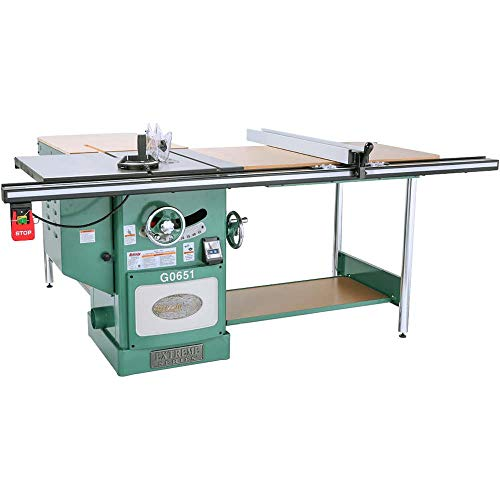Grizzly G0651 Heavy-Duty Cabinet Table Saw with Riving Knife, 10-Inch