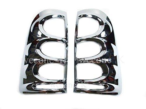 Chrome Rear Tail Light Taillight Lamp Cover Trim For Toyota Hilux Vigo Mk6 2005 2006 2007 2008 2009 2010 2011 V.2