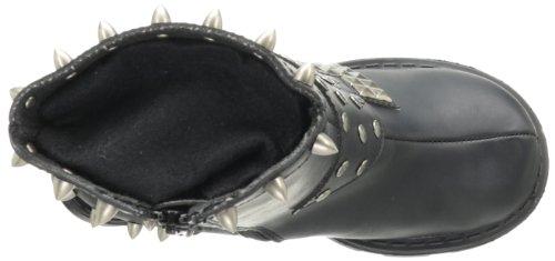 Blk 64 Schwarz Demonia Schwarz Vegan Zapatos Sinister Leather Mujer YxPwvx
