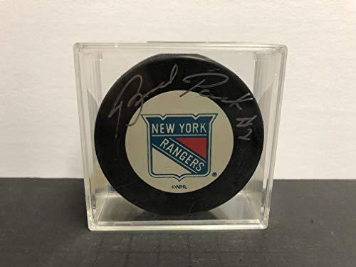 Brad Park NY Rangers Signed Autographed NHL Hockey Puck with display case and COA