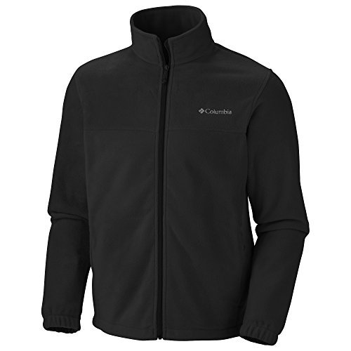 Columbia Men's Steens Mountain Front-Zip Fleece Jacket (Black 01, Large)