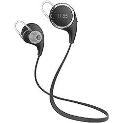 Tribe TRB Wireless Bluetooth 4.1 Fitness Headphones Lightweight Earbuds | Running, Gym | Premium Sound & Bass | QY8 CSR Chip Sound Technology | 8 Hr. Lithium Ion Battery Life (Black)
