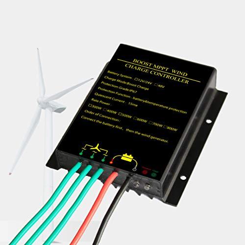 Cabilock Windturbinen-Laderegler Windkraft-Laderegler Wasserdicht Mppt 48V 800W Zur Leistungsergänzung (Schwarz)
