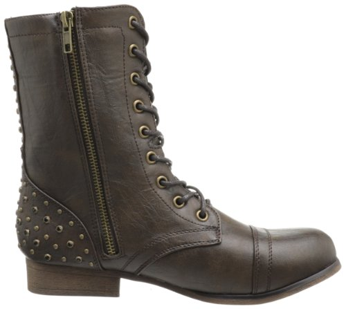 Madden Brown Lace Women's Paris Boot Up Gallyyy Girl rTAwqr