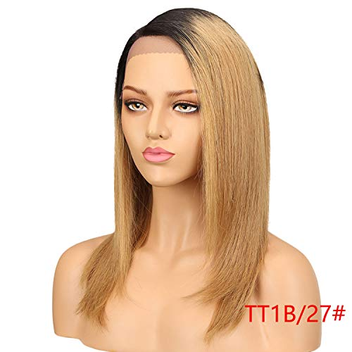 Solarphoenix Straight Lace Front Human Hair Wigs For Women Brazilian Human Hair Wig Blond Straight Lace Front Wig,18inches,TT1B27]()