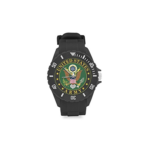 Army Logo Watch - Sport Rubber Strap Watch U-S army logo eagle united Pattern