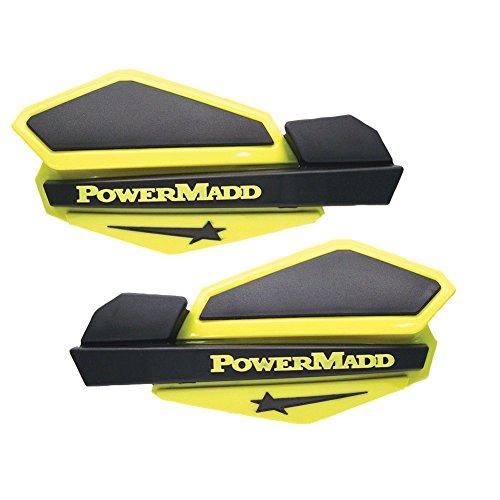 - PowerMadd Star Series Handguards with ATV/MX Mount Kit Yellow/Black