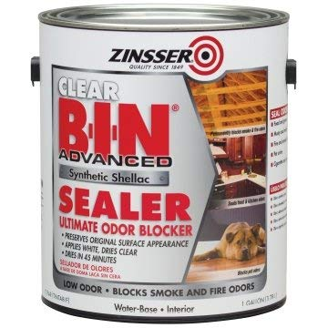 Zinsser B-I-N 128 Oz Clear Advanced Synthetic Shellac Sealer Package of 2 by Zinsser (Image #1)